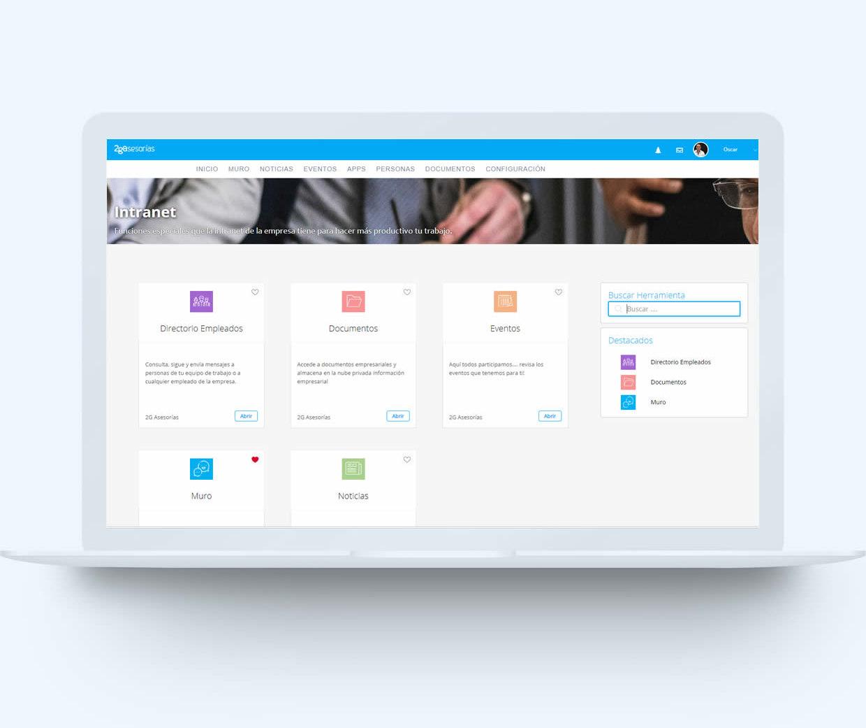 laptop portal empleados - Módulos