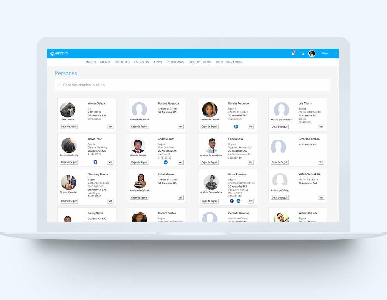 Ejemplo portal-empresarial en laptop - Personas